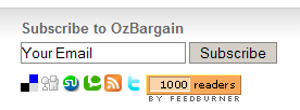 1000 subscribers at OzBargain